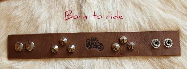 náramok kožený motorkársky