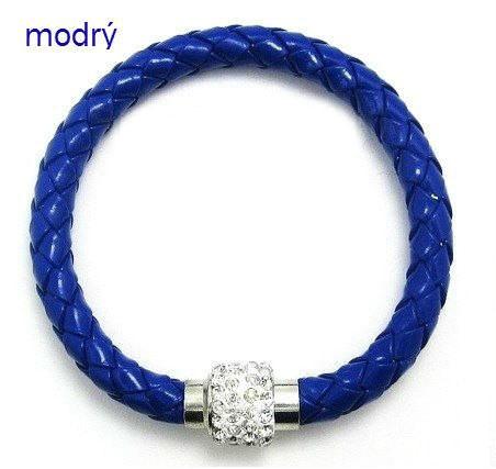 modrý magnetický náramok