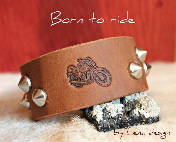 motorkársky náramok, born to ride
