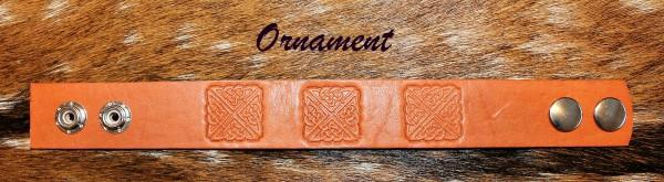 pánsky kožený náramok-ornament