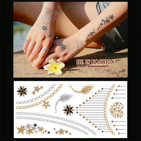 falošné tetovačky, metalické