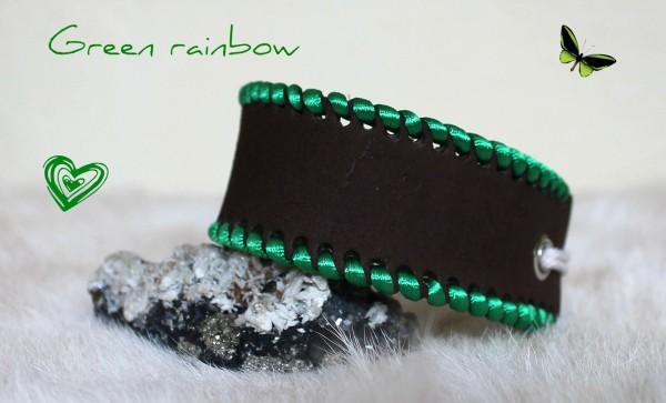 zelený dámsky náramok